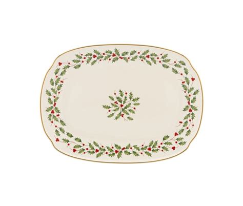 holly christmas serving platters christmas wikii