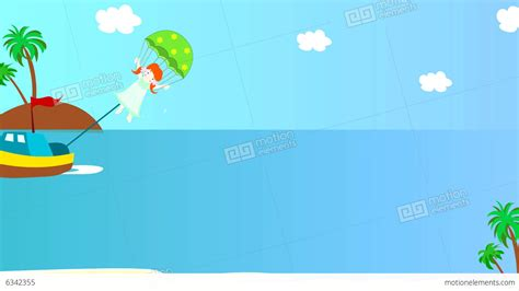 boat parachute the boat pulls girl on a parachute over the sea a stock