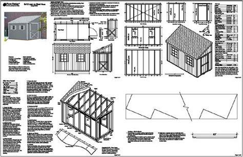 sheds  lean  roof plans   build diy blueprints