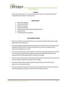 supply sop template standard operating procedure sop of supply chain review