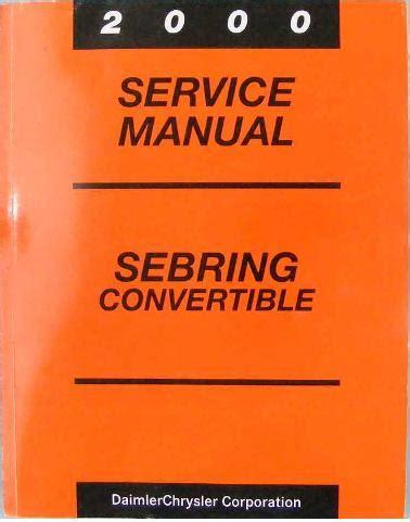 service repair manual free download 2000 chrysler sebring seat position control service manual service manuals schematics 2000 chrysler sebring regenerative braking service