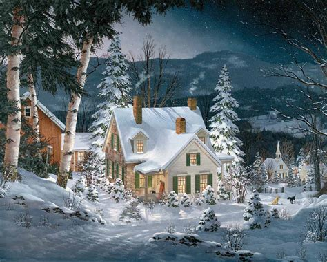 Winter House by Friends In Winter Puzzle White Mountain Puzzles