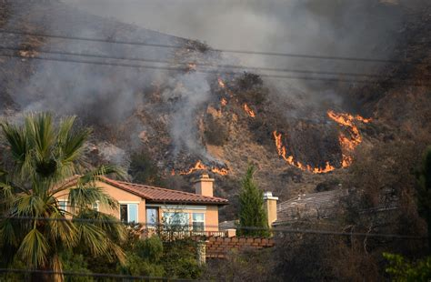 California Fires Drive From Homes To Hotels by Colby Wildfire Burns More Than 1 700 Acres Destroys