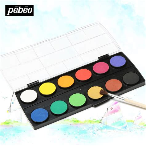 aliexpress buy pebeo 12 colors watercolor powder painting watercolor paint box solid petit