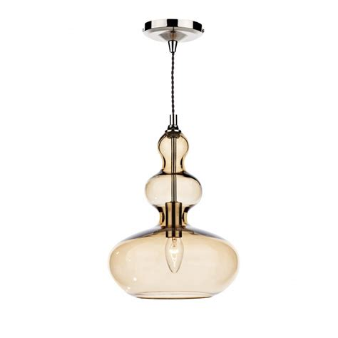 insulated single gold glass ceiling pendant
