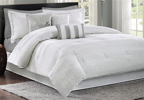 white king comforter sets winterdale white 7 pc king comforter set