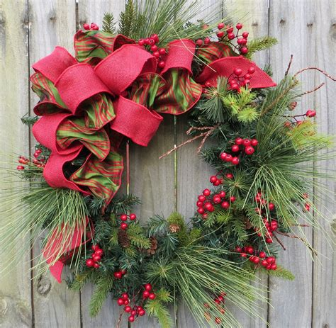holiday wreath christmas wreath decorating ideas