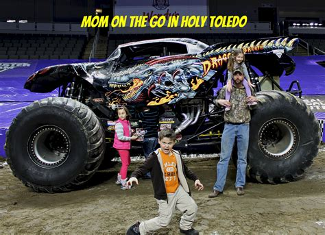 monster truck jam video monster jam fun mom on the go in holy toledo