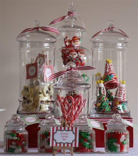 christmas holiday party ideas use glass apothecary jars
