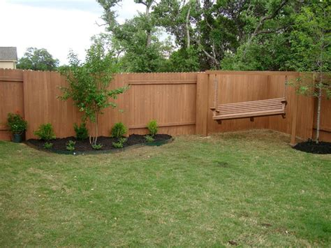 fence backyard look for backyard fence ideas for a privacy fence