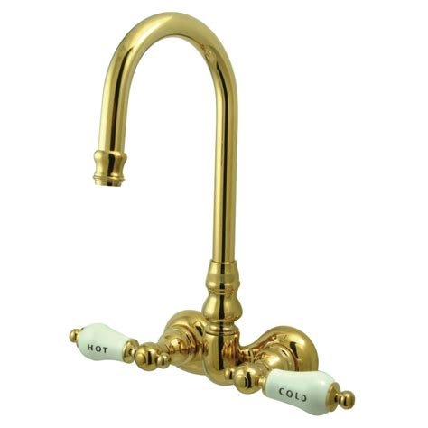 clawfoot bathtub faucets gooseneck wall mount clawfoot tub faucet 3 3 8 quot on