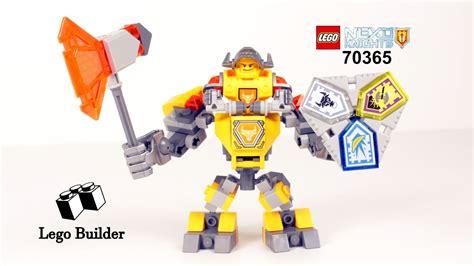 Lego 70365 Nexo Knights Battle Suit Axl lego nexo knights 70365 battle suit axl lego speed build