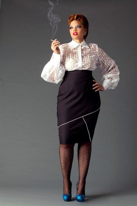 Donatella Says More Skirts by Jibri Plus Size High Waist Pencil Skirt W Geometric