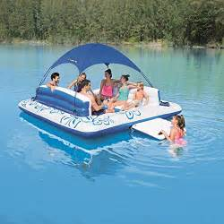 Inflatable Island With Canopy by Tropical Floating Island With Canopy Giant 6 Person
