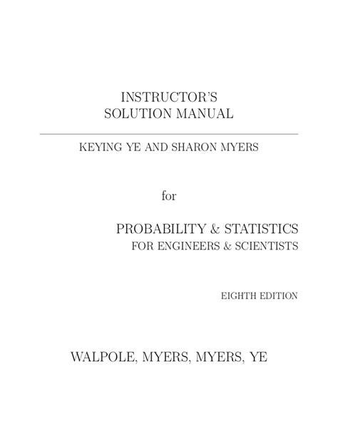 Probability And Statistics For Engineer 8ed solucionario probabilidad y estad 237 stica para ciencias e