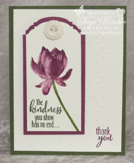 Lotus Handmade Cards - lotus blossom st set free during sale a bration