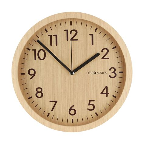 wood clock modern wooden silent wall clock decomates
