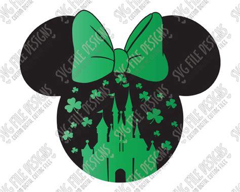 St Minie Mouse minnie mouse disneyland castle shamrock svg cut file set