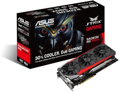 Vga Gigabyte Radeon R9 390x vga asus strix radeon r9 390x strix r9390x dc3oc 8gd5 gaming 8gb gddr5 pci e retail καρτα