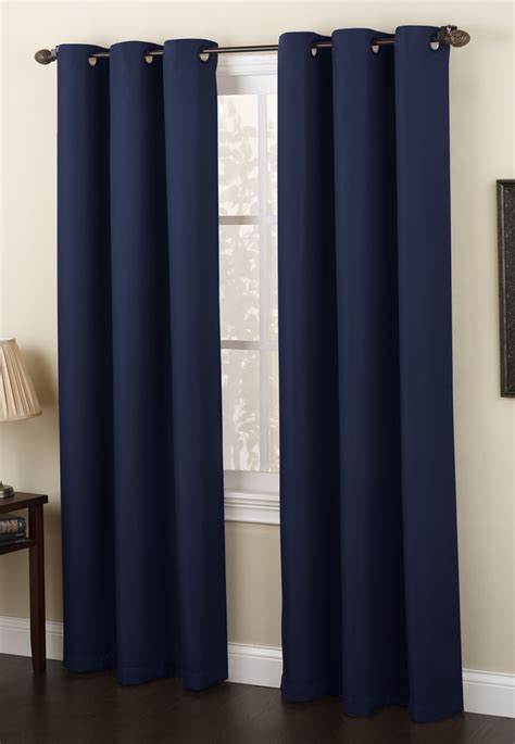 navy drapery panels montego woven grommet curtains navy lichtenberg view
