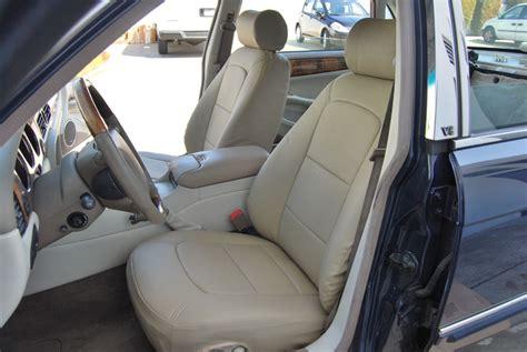 jaguar xj seat covers jaguar xjr 1998 2007 leather like custom fit seat cover ebay