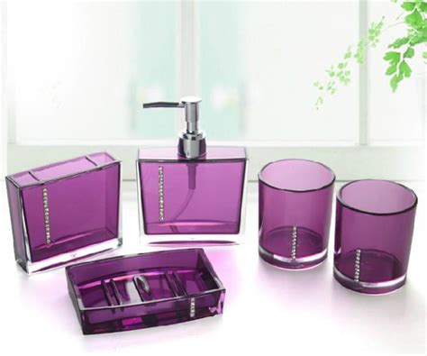 purple bathroom accessories sets complete your bathroom with sweet purple bath accessories