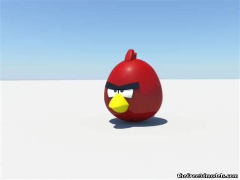 Kaos 3d Umakuka Angry Bird angry bird 3d model mb
