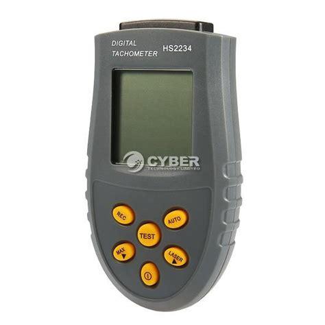 Digital Laser Tachometer Rpm Meter Recording Ukur Termasuk Baterai new handheld digital laser photo tachometer non contact rpm tach meter tester
