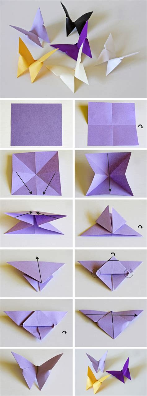 Folded Paper Butterfly Template - d 233 coration murale papillon