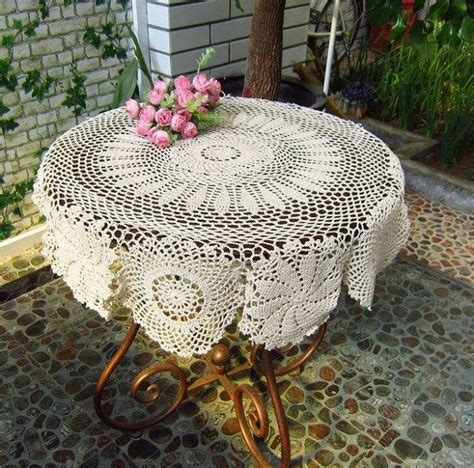 Handmade Crochet Tablecloth - vintage handmade crochet tablecloth home design garden