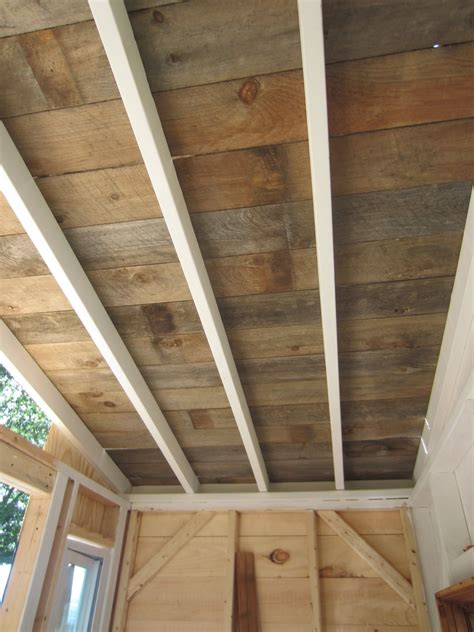 Free A Frame Cabin Plans by Relaxshacks Com A Recycled Barn Wood Fence Plank Ceiling