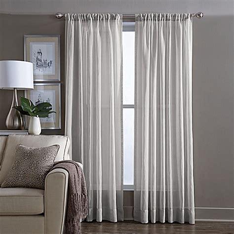 Grey Sheer Curtains Buy Wamsutta 174 Sheer 108 Inch Window Curtain Panel In Grey From Bed Bath Beyond