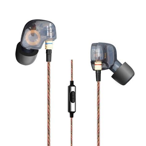 Knowledge Zenith Driver Earphone With Mic Kz Zse Hitam knowledge zenith copper driver in ear sports earphones 3