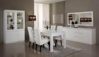 salle 224 manger compl 232 te design laqu 233 e blanche