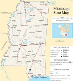 Ms State Map by Mississippi State Map A Large Detailed Map Of