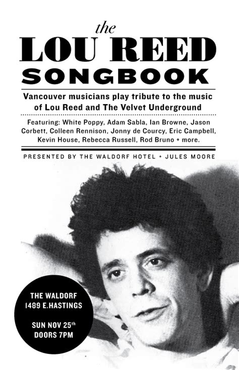 silva end of a rock and roll story rock books lou reed poster inside vancouver