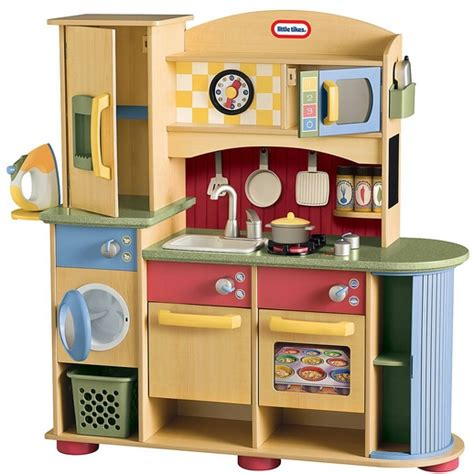 Wooden Kitchen Sets by Wooden Play Kitchen Set With Laundry Home Interiors
