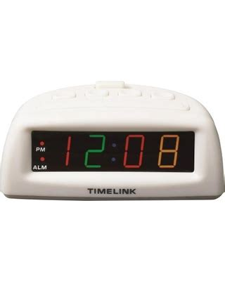 here s a great price on timelink led alarm clock with multi color display white