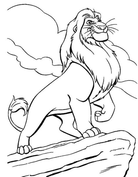 Lion King Coloring Pages Mufasa Mufasa Coloring Pages