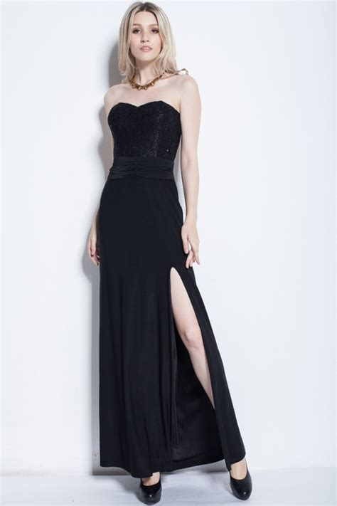 The Evening Black Dress 1 black strapless evening gown prom dress thecelebritydresses