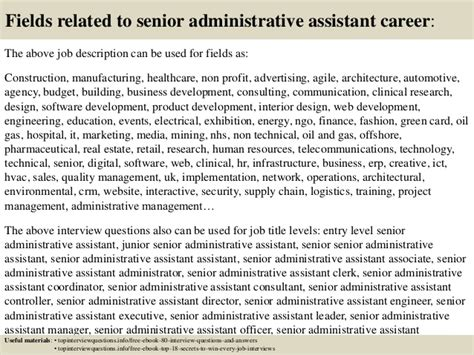 top 10 senior administrative assistant questions and answers