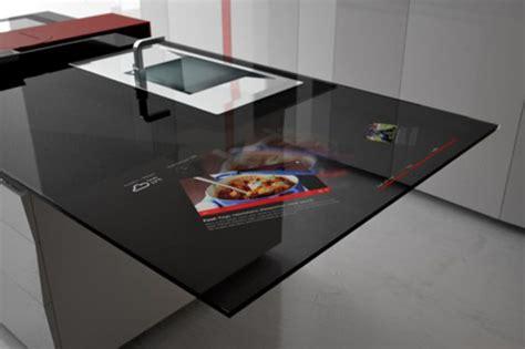 high tech cutting board high tech kitchen design with integrated samsung galaxy