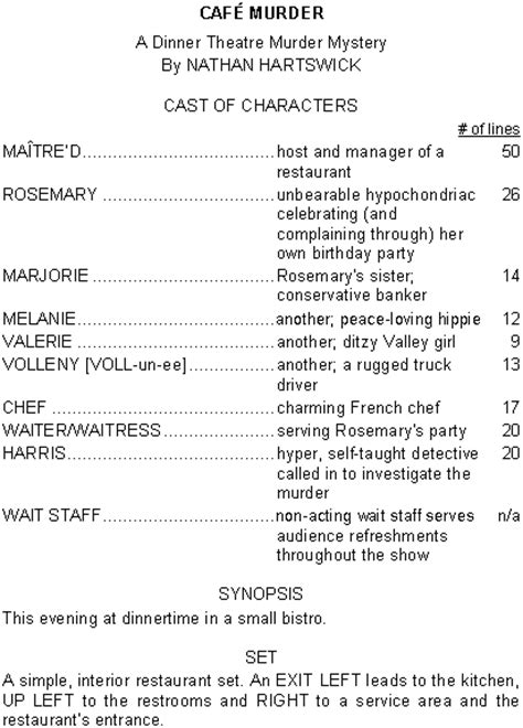 murder mystery dinner scripts comedy dinner theatre scripts