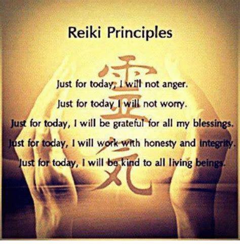 reiki principles   today ill  anger