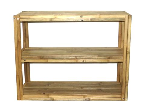 patio tv stand bamboo tiki 3 tier square bamboo 35 5 inch patio