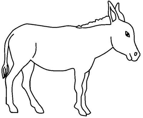 printable donkey templates donkey coloring page animals town animals color sheet