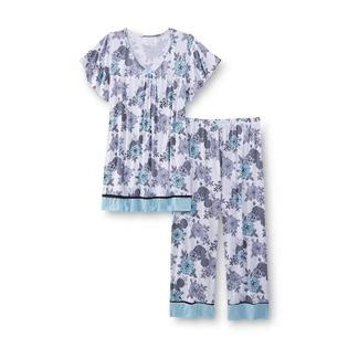 Big Size Floral Blouse By Kathy Ireland kathy ireland s pajama top floral clothing s clothing s