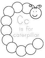 letter c caterpillar coloring page cc kinder on pinterest letter c kindergarten