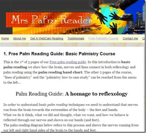 palm reading basic principles and 5 free websites to learn palmistry