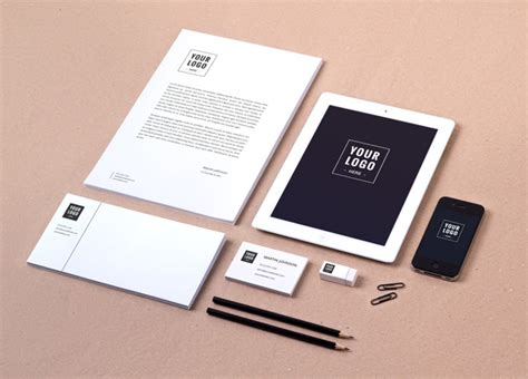 Business Card 8 Sheet Printing Template Psd by Free Branding Identity Mockup Vol 8 Graffies